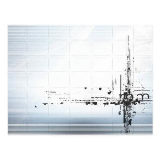 格子の抽象デザイン ポストカード