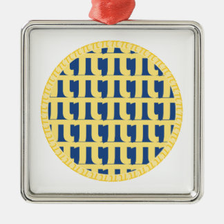 格子ブルーベリー・パイ- Pi日 メタルオーナメント