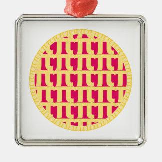 格子ラズベリーパイ- Pi日 メタルオーナメント