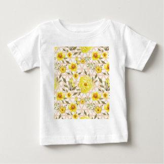 格子垣の国の黄色い花 ベビーTシャツ