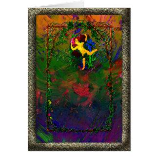 格子垣の挨拶状の花 カード