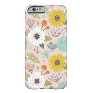 格子垣の花の電話箱-赤面 BARELY THERE iPhone 6 ケース
