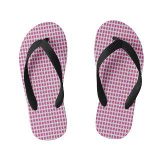 格子宝石ピンクの(C)数々のスタイル キッズビーチサンダル