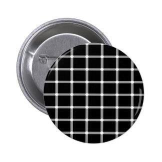 格子目の錯覚のデザイン 5.7CM 丸型バッジ