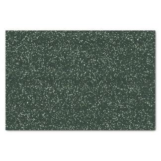 格子縞のシカの枝角の緑のグリッター 薄葉紙
