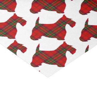 格子縞のスコッチテリア犬 薄葉紙