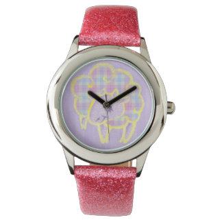 格子縞のヒツジ 腕時計