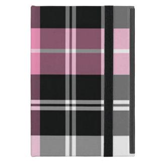 格子縞のピンクの粋な光沢のある iPad MINI ケース
