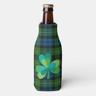 格子縞のボトルのクーラーのシャムロック ボトルクーラー