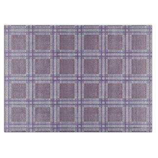格子縞のラベンダー、プラムおよび紫色 カッティングボード