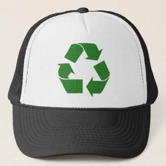 格子縞のリサイクル キャップ