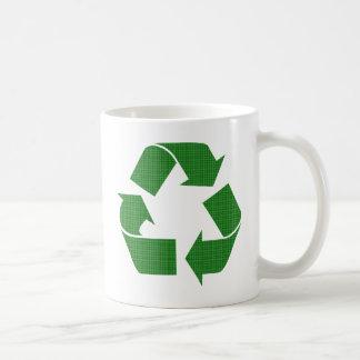 格子縞のリサイクル コーヒーマグカップ