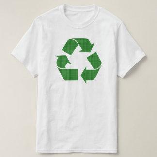 格子縞のリサイクル Tシャツ