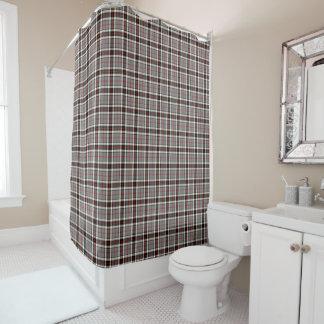 格子縞の一族のトムソンの灰色、赤く、および黒いタータンチェック シャワーカーテン
