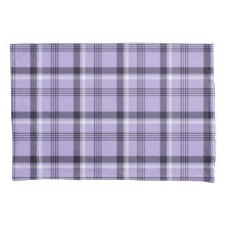 格子縞の多彩なギンガムの紫色の幾何学的 枕カバー