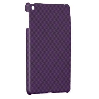 格子縞の立派に紫色 iPad MINIケース