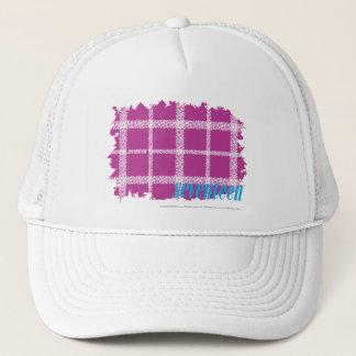 格子縞の紫色4 キャップ