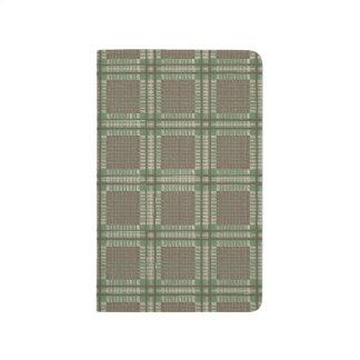格子縞の緑および茶色 ポケットジャーナル