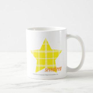 格子縞の黄色4 コーヒーマグカップ