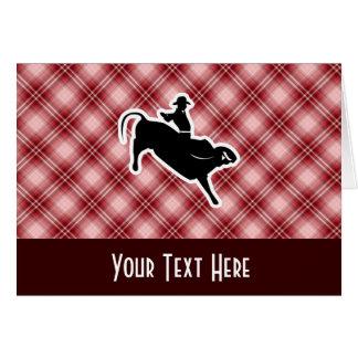 格子縞のBullの赤いライダー カード