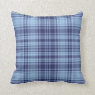 格子縞1 -青い クッション