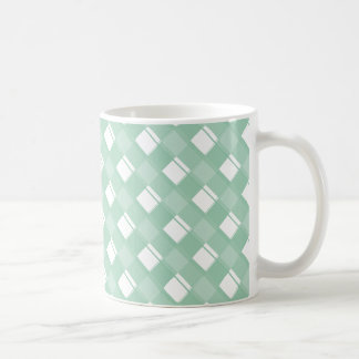 格子縞3のアメリカツガ コーヒーマグカップ