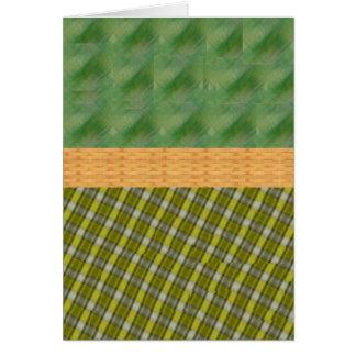 格子縞 カード