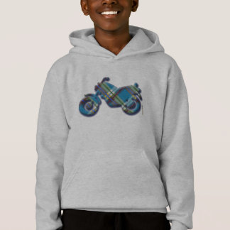 格子縞、点検およびタータンチェックのTシャツのモーターバイク