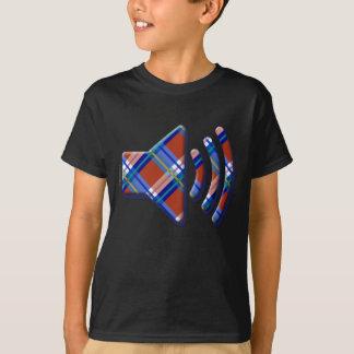 格子縞、点検、タータンチェックの容積アイコン Tシャツ
