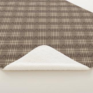 格子縞nの渦巻のブラウンクリーム色のSherpaの毛布 シェルパブランケット