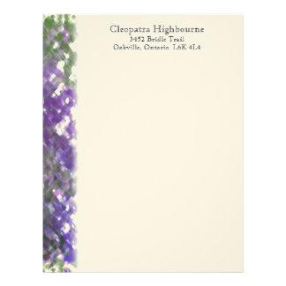 格子花の柔らかい紫色レターヘッド レターヘッド