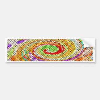 格子螺線形のデジタル芸術 バンパーステッカー