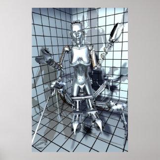 格子部屋のロボット ポスター