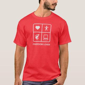 格言の自由の恋人メンズTシャツ Tシャツ