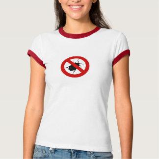 格言の虫の戦闘機の女性Tシャツ Tシャツ