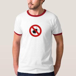 格言の虫の戦闘機メンズTシャツ Tシャツ