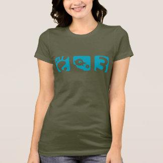 格言3の鳥の女性のTシャツ Tシャツ
