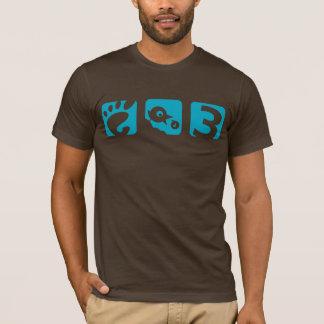 格言3の鳥メンズTシャツ Tシャツ