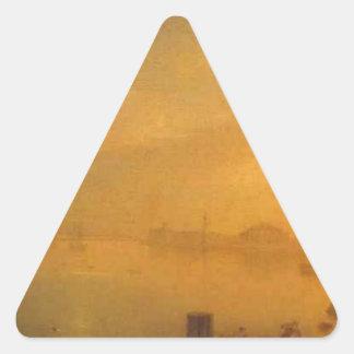 格言Vorobievによるセント・ピーターズバーグの月明りの夜 三角形シール