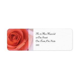 桃色の結婚式は上がりました 返信用宛名ラベル