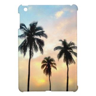 桃色3つのやし- iPad Miniのマットの箱 iPad Miniカバー