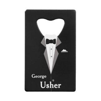 案内係は結婚式の栓抜きを個人化します クレジットカード ボトルオープナー