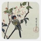 桜および小さい鳥 スクエアシール