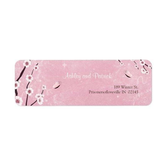 桜および愛蝶宛名ラベル 返信用宛名ラベル