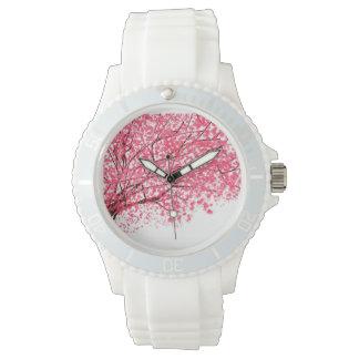 桜および枝腕時計 腕時計