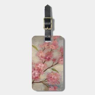 桜および枝 ラゲッジタグ