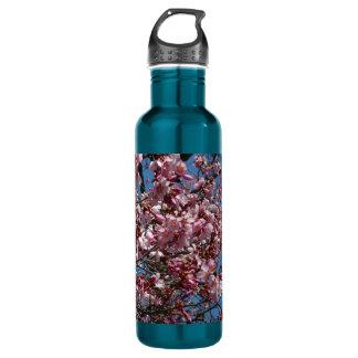 桜および青空の春の花柄 ウォーターボトル