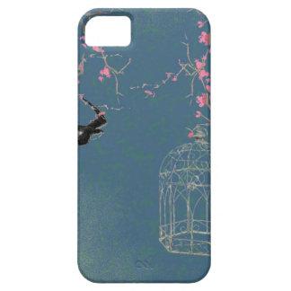 桜および鳥かご iPhone SE/5/5s ケース