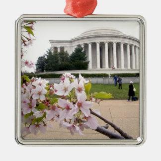 桜が付いているトーマス・ジェファーソンの記念物 メタルオーナメント