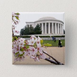 桜が付いているトーマス・ジェファーソンの記念物 缶バッジ